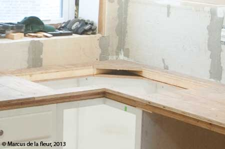 1st floor kitchen counter top installation | reshaping our footprint