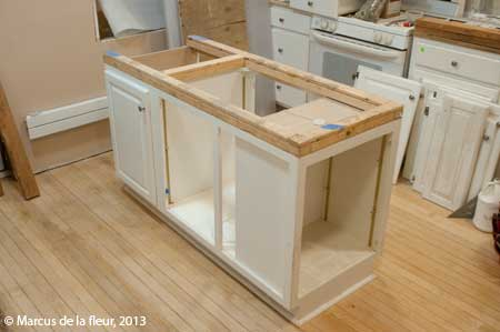 build a kitchen island out of cabinets april 2013 reshaping our footprint 12595