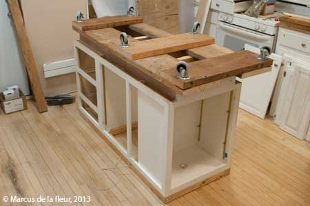 Kitchen Island On Casters island ideas | reshaping our footprint