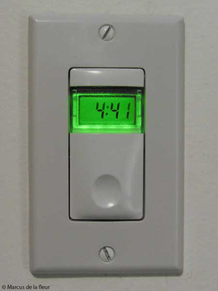 Bathroom timer switch