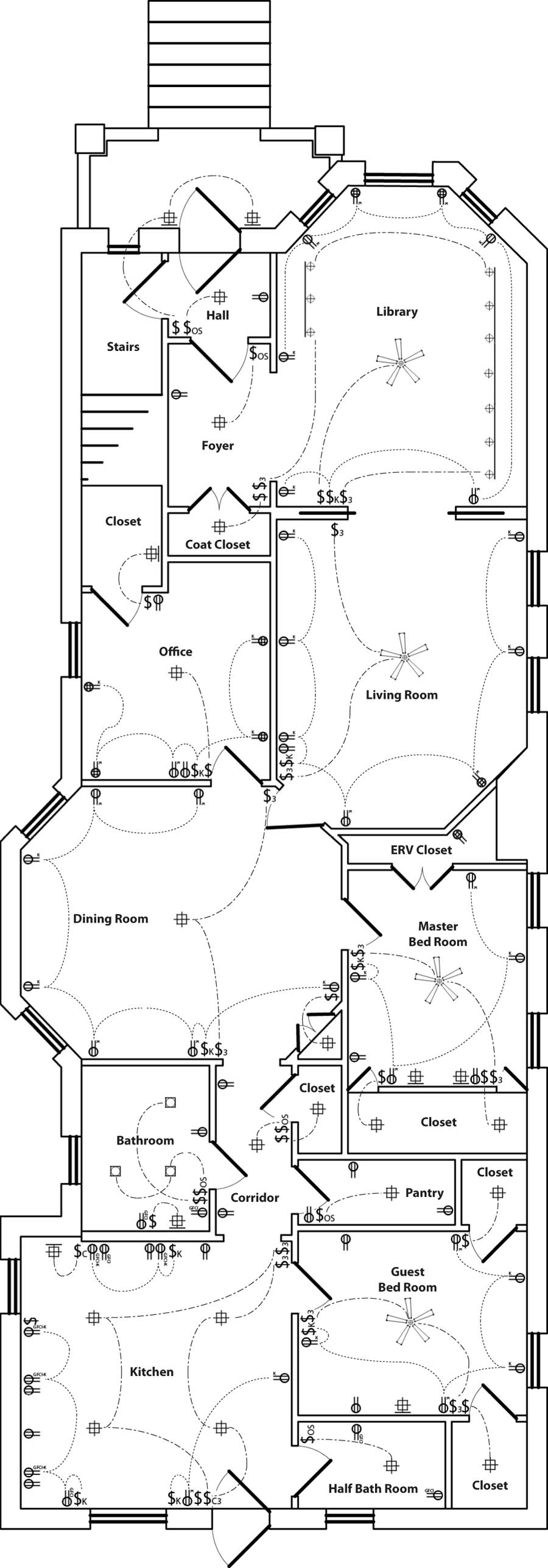 electrical layout – plan view | reshaping our footprint  marcus de la fleur